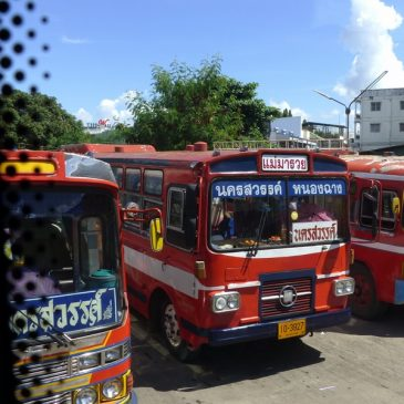 Transfert en bus d'Ayutthaya à Sukhothaï